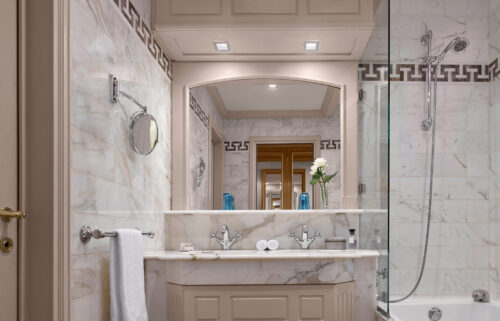 suite de luxe Metropole salle de bain